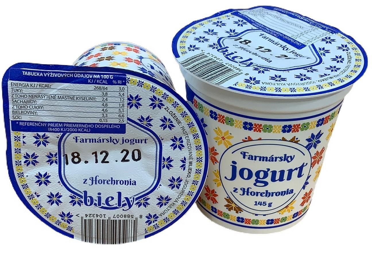 Farmársky jogurt Biely