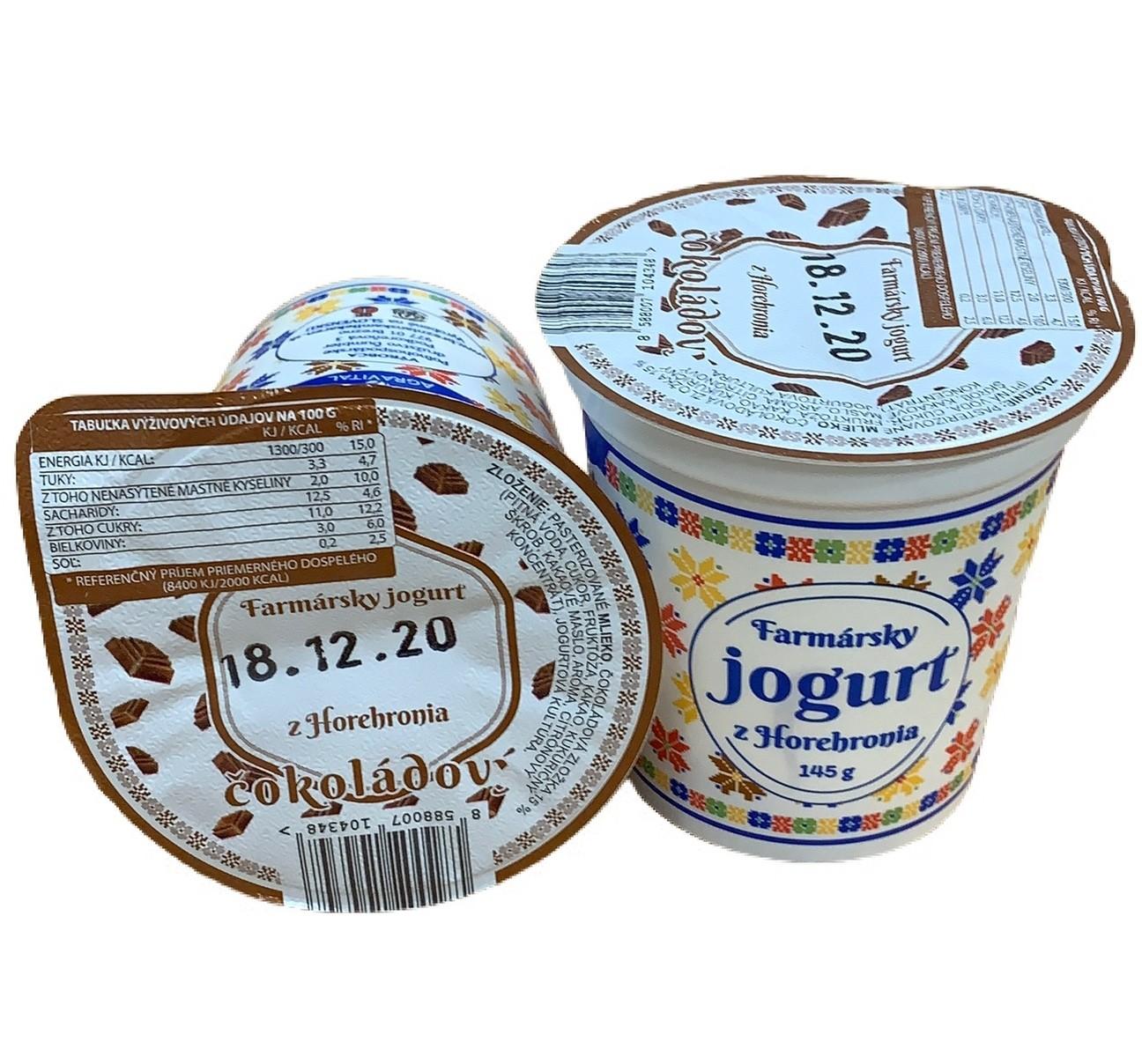 farmársky jogurt Čokoládový