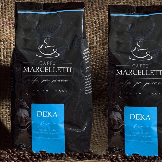 Caffé MARCELLETTI Deka -  bezkofeínová zrnková káva