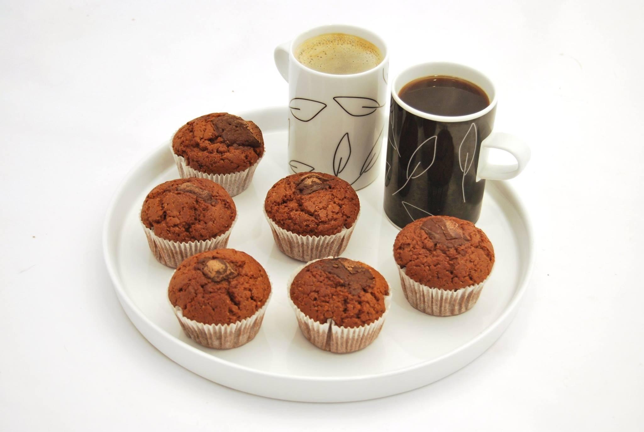 Aler mufiiny kakaové s kúskami čokolády