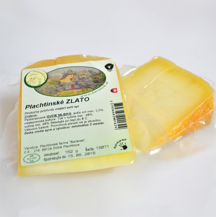 Plachtinské ZLATO - zrejúci ovčí syr