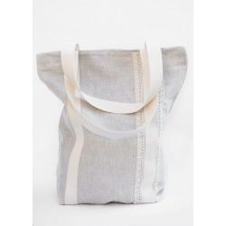 Ľanová taška s krajkou