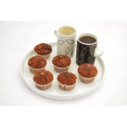 Muffiny kakaové s kúskami čokolády