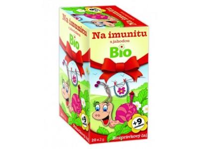 Rozprávkový čaj na imunitu s jahodou
