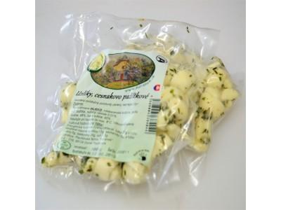 Syrové uzlíky cesnakovo-pažítkové - kravské
